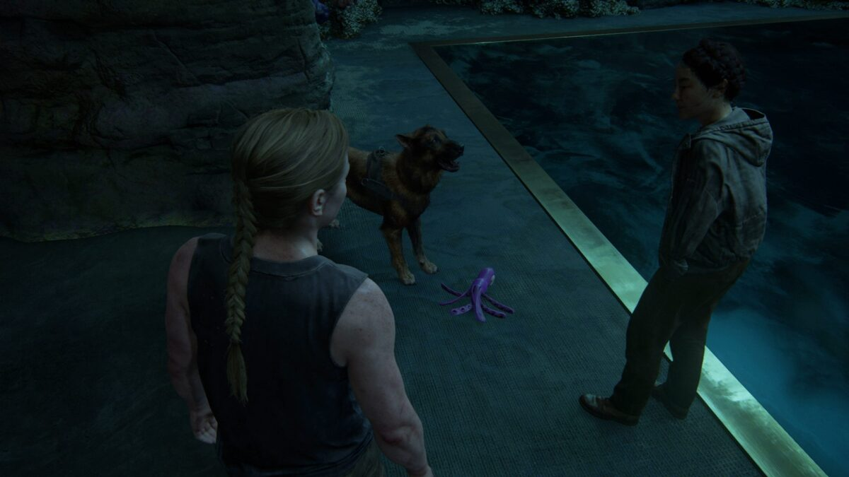 Abby und Yara spielen in The Last of Us 2 mit Hündin Alice.