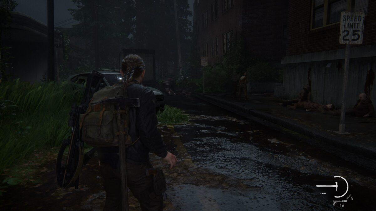 Abby findet in The Last of Us 2 Leichen von Seraphiten auf den Straßen der Insel.