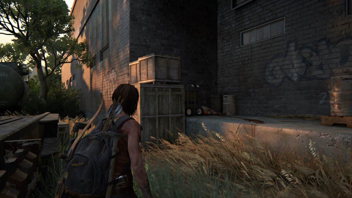 """Ellie findet in The Last of Us 2 das Artefakt """"Skalven-Notiz aus Santa Barbara""""."""