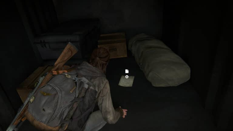 The artifact Raul´s Account lies next to a duffel bag on the cargo area of the military transporter.