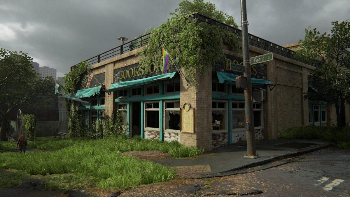 Blick auf die Buchhandlung Aurora Books in The Last of Us 2