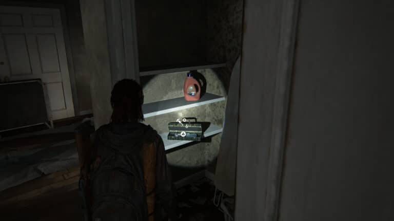 Upgrade parts in the laundry room of the apartment next to the Capitol Inn in The Last of Us 2.