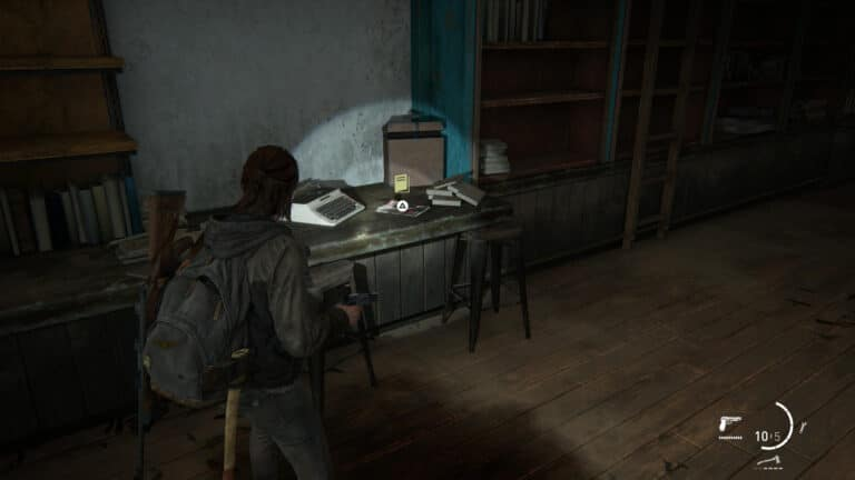 The training manual stealth lies next to the typewriter in the coffee bar.