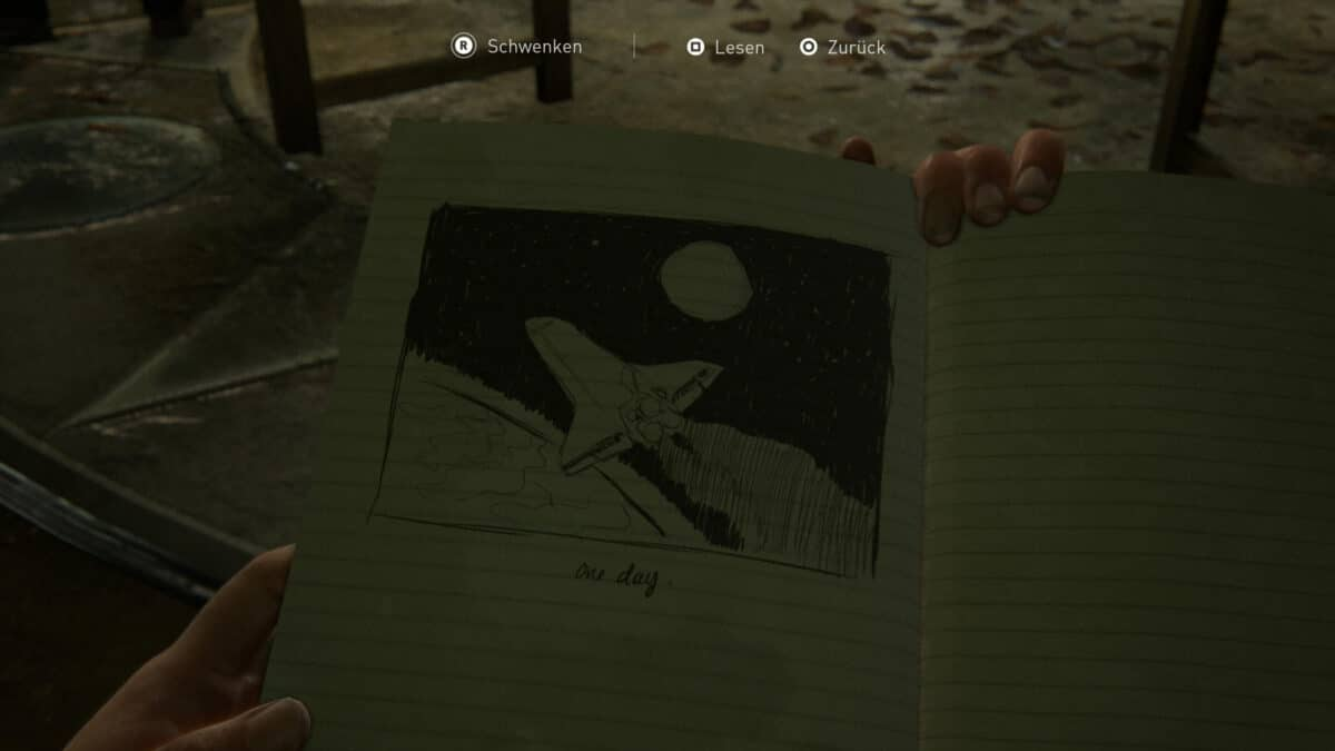 Tagebucheintrag Space Shuttle in The Last of Us 2