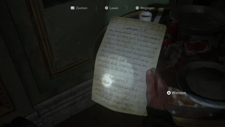 Das Artefakt Tagebuch eines einsamen FEDRA- Soldaten (1) in The Last of Us 2