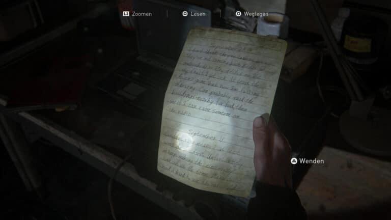Das Artefakt Tagebuch eines einsamen FEDRA- Soldaten (2) in The Last of Us 2