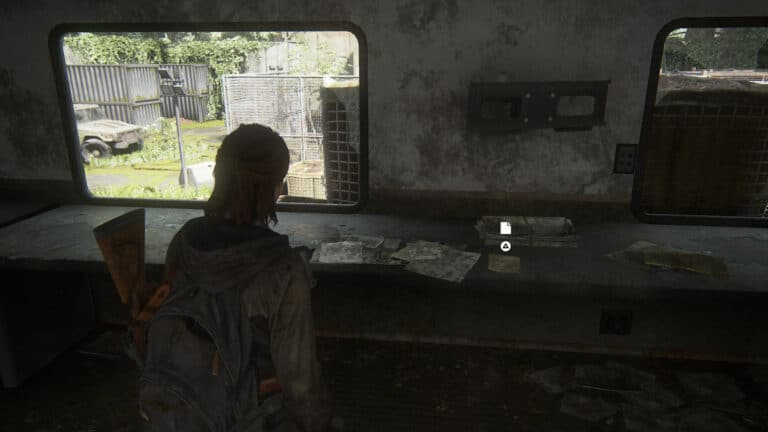The artifact Refugee Note on a table inside a mobile FEDRA-Station in The Last of Us 2.