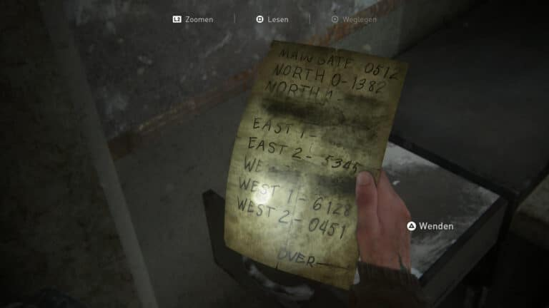 Artifact Checkpoint Gate Codes with the access data for the gates and doors in Seattle in The Last of Us 2.