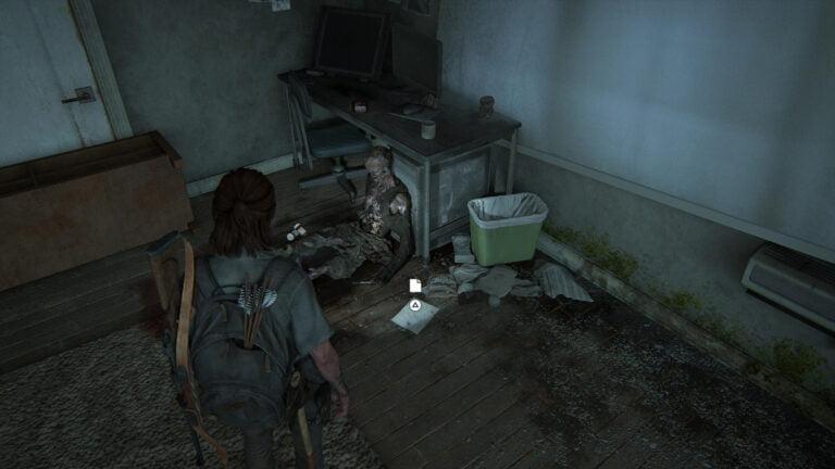 """Neben einer Leiche liegt das Artefakt """"Bitte des sterbenden Ehemannes"""" in The Last of Us 2"""