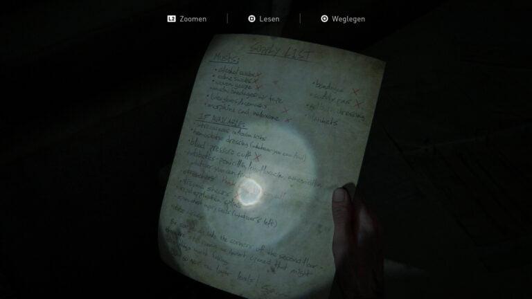 "Das Artefakt ""Krankenhaus-Vorratsliste"" in The Last of Us 2"