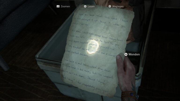 """Das Artefakt """"Letzter Brief an den Ehemann"""" in The Last of Us 2"""