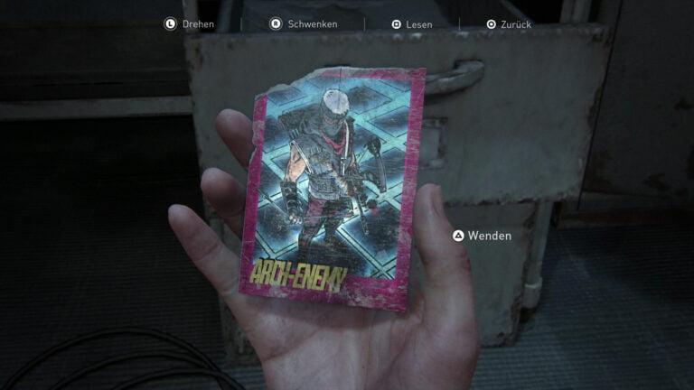 Die Sammelkarte Arch-Enemy in The Last of Us 2