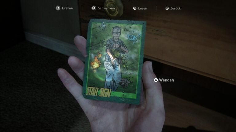 Sammelkarte Star Sign in The Last of Us 2.