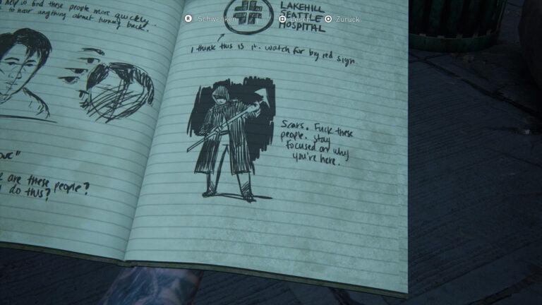 """Tagebucheintrag """"Scars"""" in The Last of Us 2."""