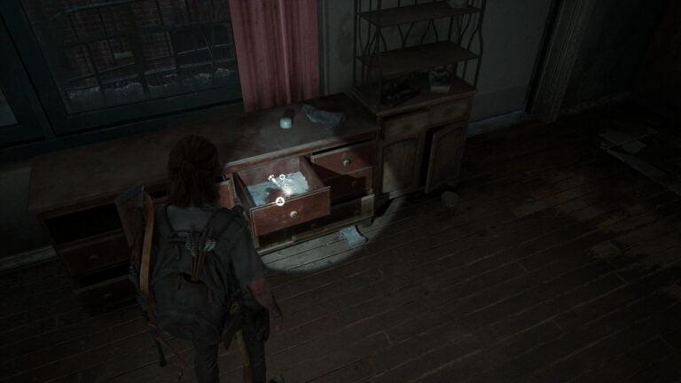 5 Upgrade-Teile in Apartment 201 in den Garden Suites in The Last of Us 2