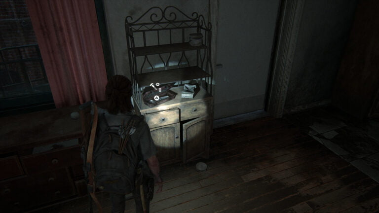 8 Upgrade-Teile in Apartment 201 in den Garden Suites in The Last of Us 2