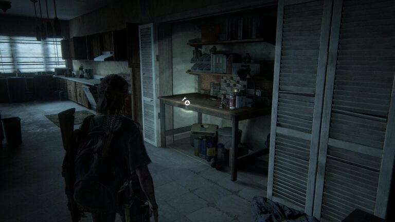 Werkbank im Wandschrank in Apartment #1 in der Union Street in The Last of Us 2