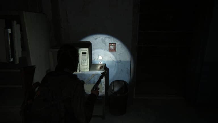 Neben der Mikrowelle liegt das Artefakt Geschnitzte Statue in The Last of Us 2