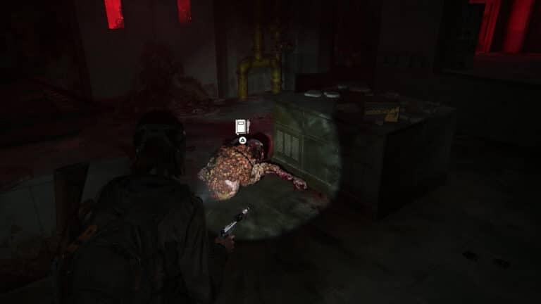 A dead shambler leads to a journal entry in The Last of Us 2.