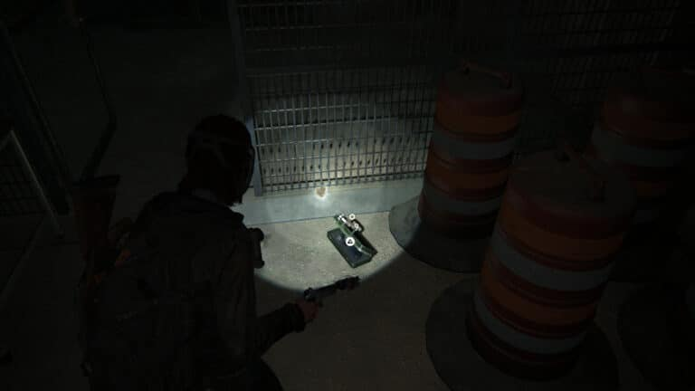 Upgrade parts inside the cage of the storage room in the maintenance tunnels in The Last of Us 2.