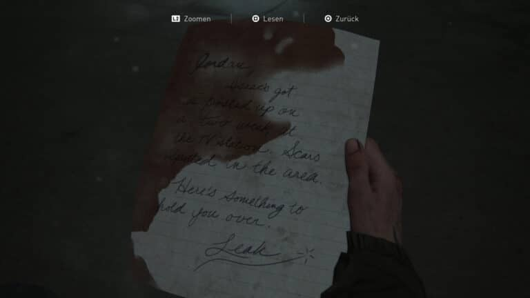 Das Artefakt Leahs Notiz in The Last of Us 2