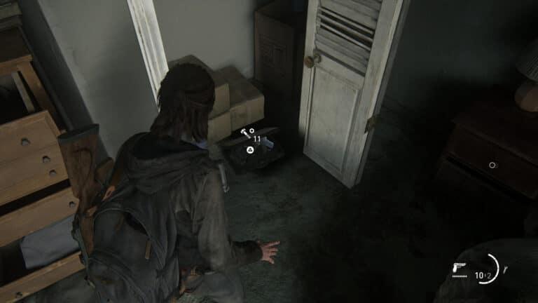 Upgrade-Teile im Schlafzimmerschrank des Apartments nach der Grundschule in The Last of Us 2