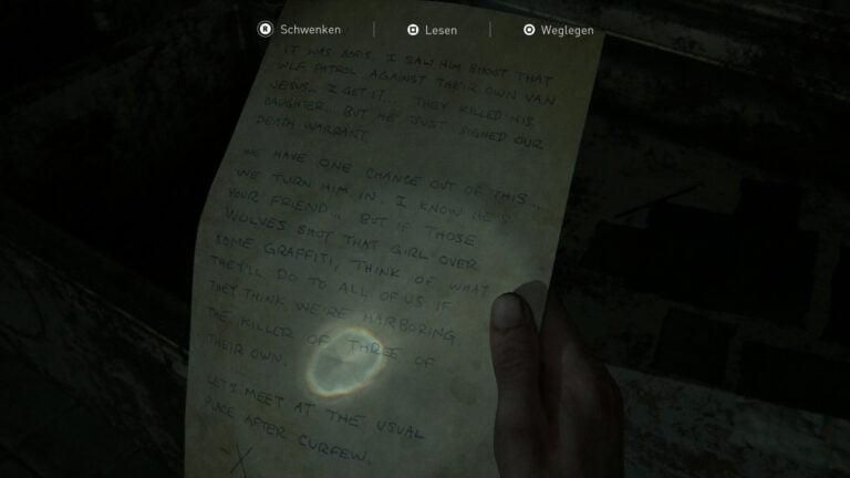 """Das Artefakt """"Liefere Boris aus""""-Notiz in The Last of Us 2"""