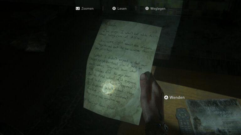 "Das Artefakt ""Boris Geständnis"" in The Last of Us 2."