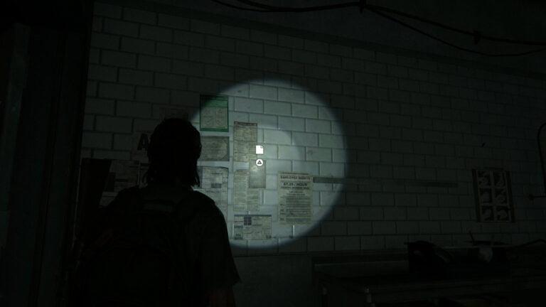 """An der Wand der Restaurantküche in The Last of Us 2 hängt das Artefakt """"Dales Kombination"""""""