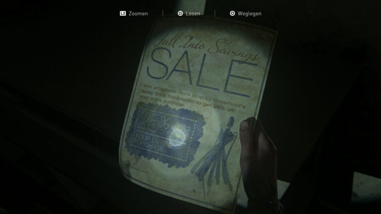 """Das Artefakt """"Rosemonts Flyer"""" in The Last of Us 2"""