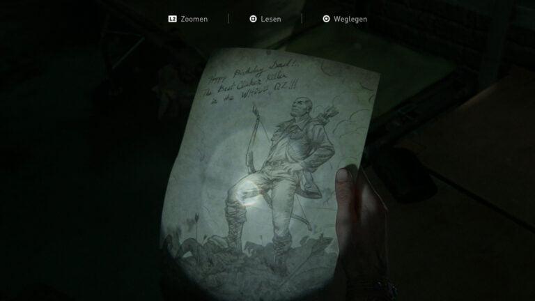 """Das Artefakt """"Zeichnung von Boris Tochter"""" in The Last of Us 2"""