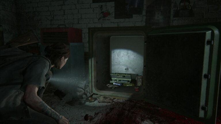 Offener Safe in der Autowerkstatt in Hillcrest in The Last of Us 2