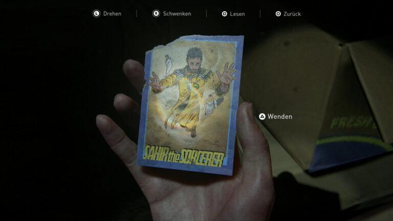 Sammelkarte Sahir the Sorcerer in The Last of Us 2