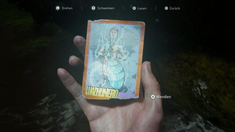 Die Sammelkarte Wachumero in The Last of Us 2