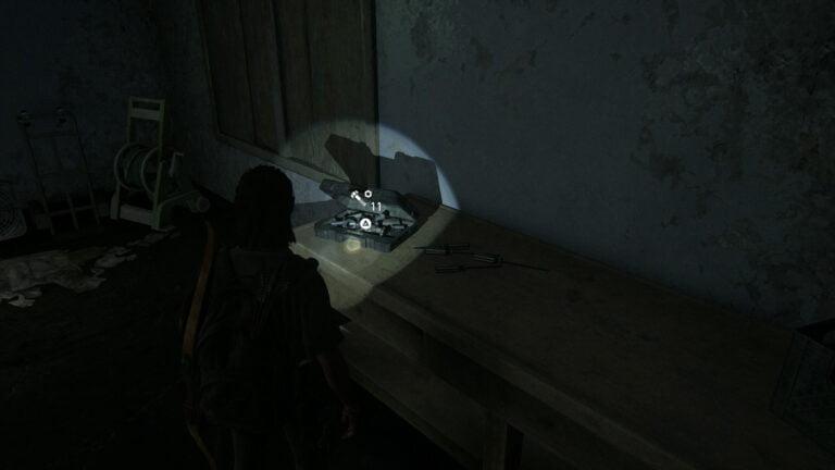 11 Upgrade-Teile in der Garage von Haus 4 in The Last of Us 2