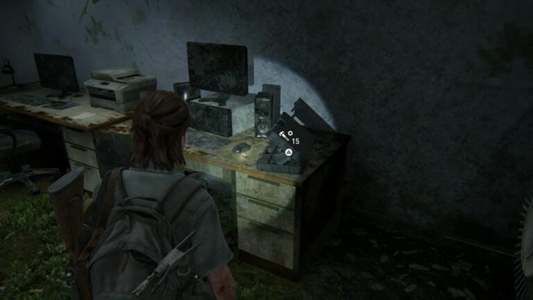 15 Upgrade-Teile im Büro der Fahrradwerkstatt in The Last of Us 2