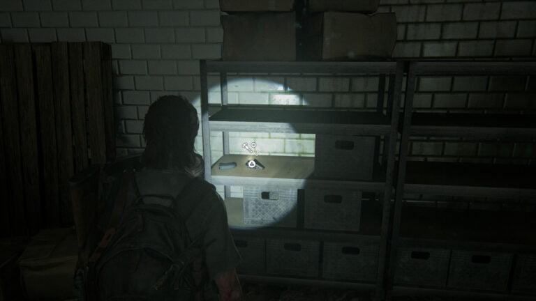 4 Upgrade-Teile in der Küche von Ruston Coffee in The Last of Us 2