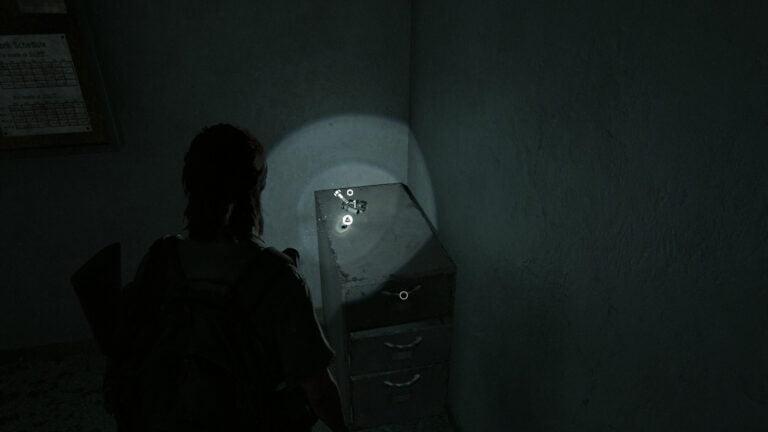 5 Upgrade-Teile im Büro der Autowerkstatt in The Last of Us 2