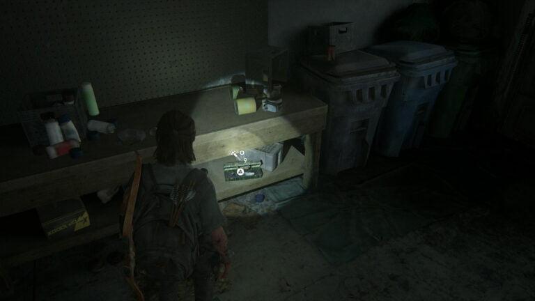 9 Upgrade-Teile in der Garage von Boris' Haus in The Last of Us 2