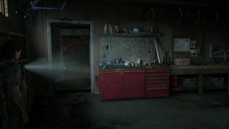 Die Werkbank in der Fahrradwerkstatt in Hillcrest in The Last of Us 2.