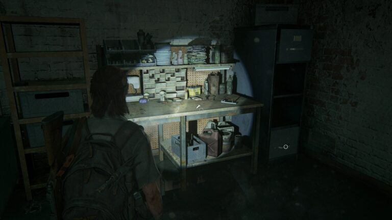 Werkbank im keller von Rosemont in The Last of Us 2