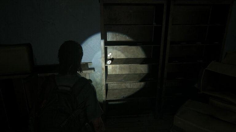 7 Zusätze im Regal im Verkaufsraum von Natural Remedies in The Last of Us 2