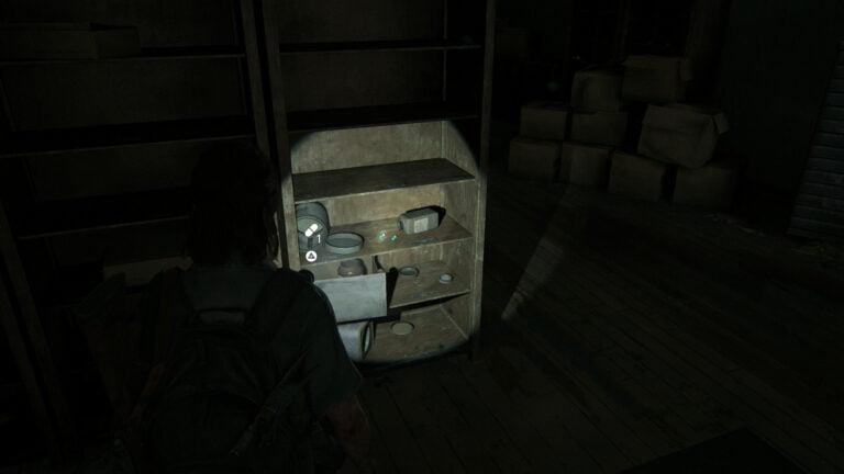 8 Zusätze im Regal im Verkaufsraum von Natural Remedies in The Last of Us 2