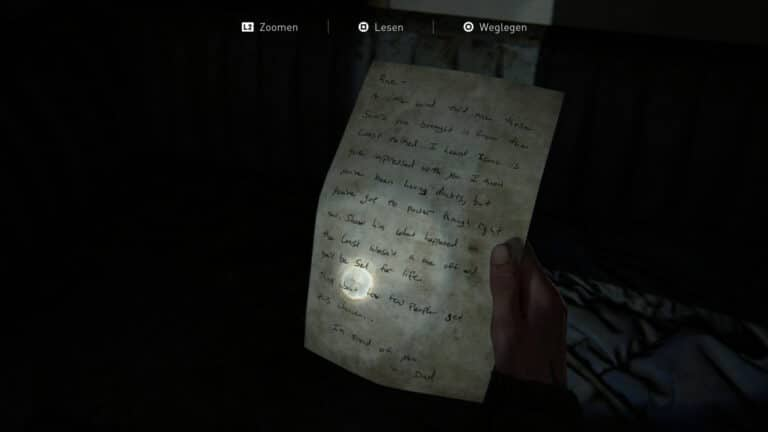 Das Artefakt Dads Zuspruch in The Last of Us 2