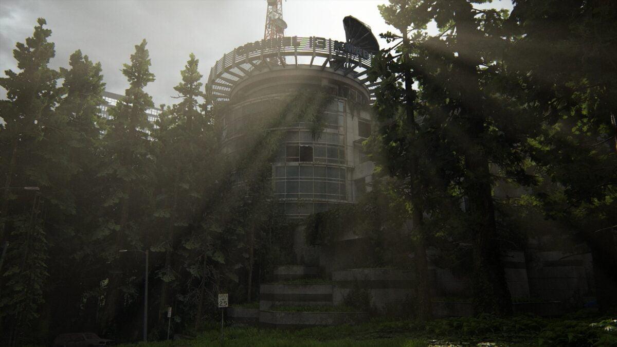 Blick auf das Gebäude von Kanal 13 in The Last of Us 2