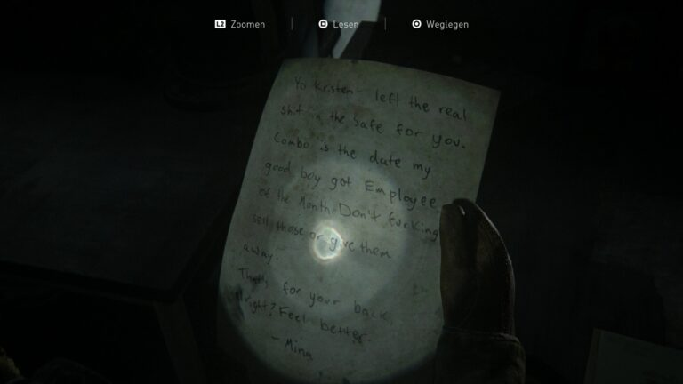 Artifact Good boy safe code in The Last of Us 2