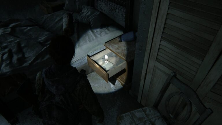 Artifact Note to Santa in the nightstand in The Last of Us 2