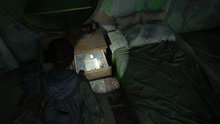Artifact Eugene´s ultimatum inside the nightstand in the library in The Last of Us 2