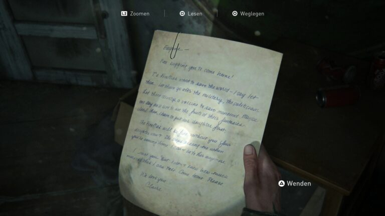 Artifact Eugene´s ultimatum in the library in The Last of Us 2