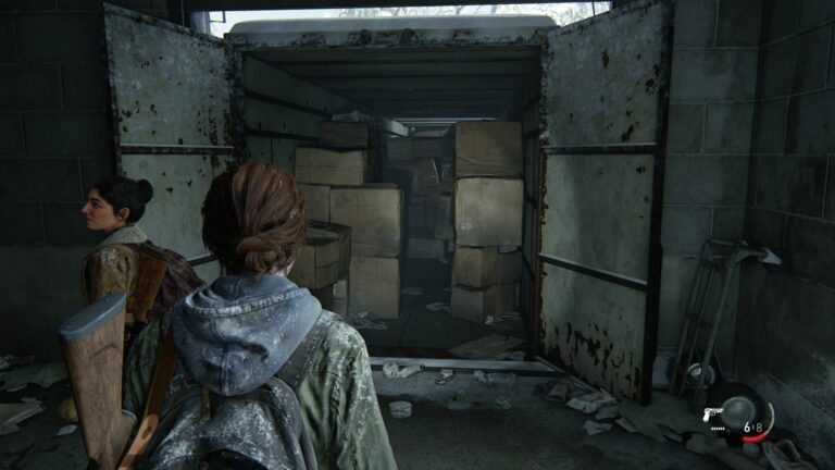 Entrance to the truck in the backyard of the Green Place Market in The Last of Us 2